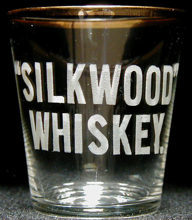Pre pro shot glass silkwood whiskey Silkwood glass